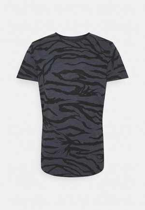 JORRON TEE CREW NECK - Print T-shirt - ombre blue