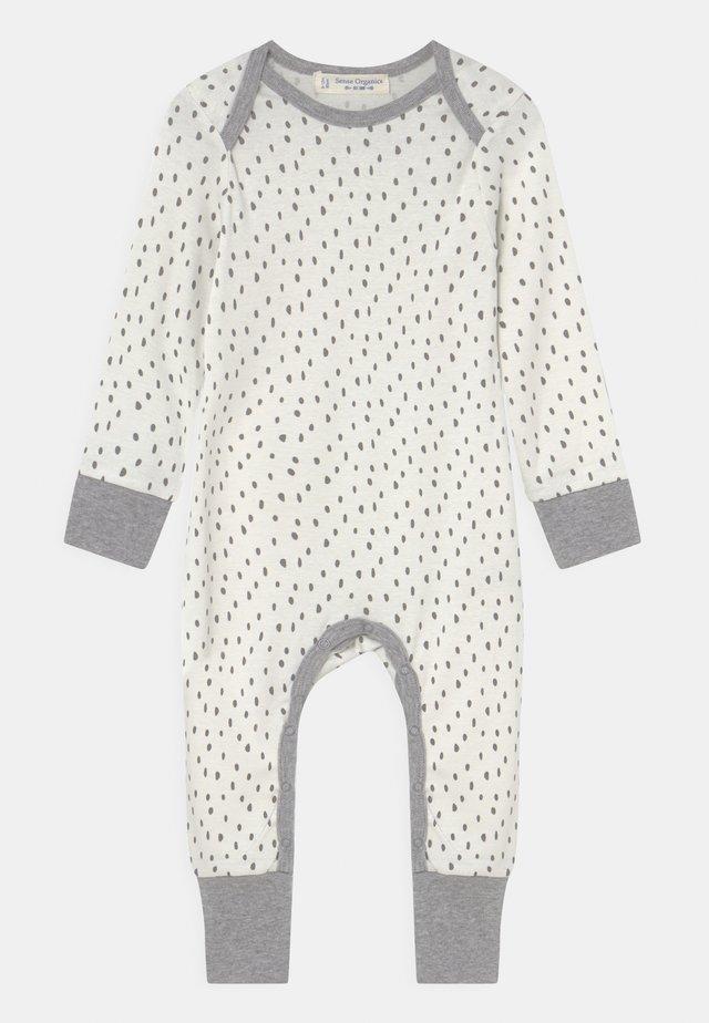WAYAN BABY ROMPER UNISEX - Pyjamas - white/mottled grey