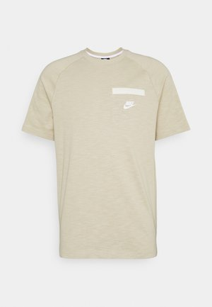 Basic T-shirt - grain/coconut milk/white
