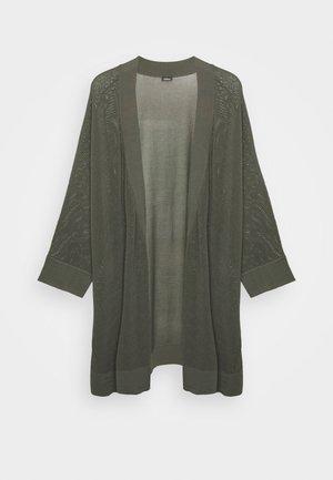 3/4 ARM - Cardigan - dark khaki green
