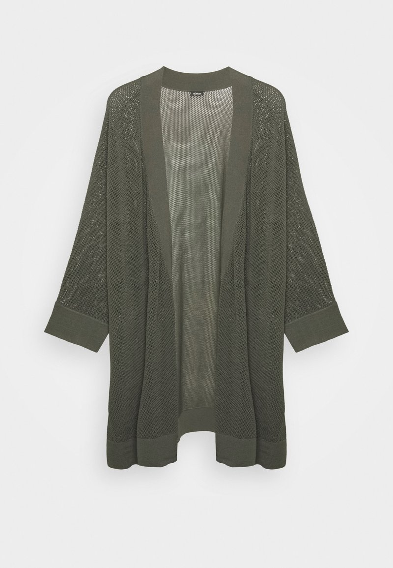 s.Oliver BLACK LABEL - 3/4 ARM - Cardigan - dark khaki green