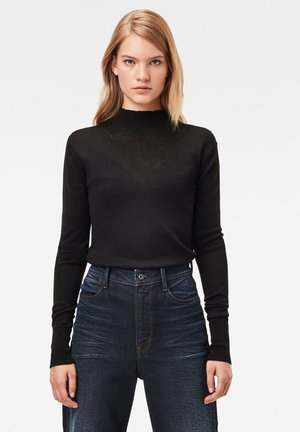 STOKYR TURTLE SLIM LONG SLEEVE - Jumper - dk black