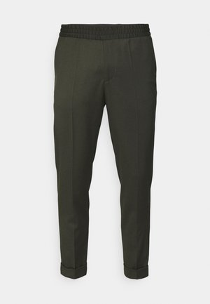 TERRY CROPPED TROUSER - Kalhoty - moss green