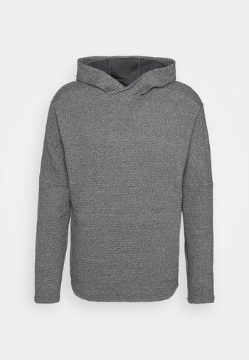 YOGA - Jersey con capucha - dark grey/heather/black