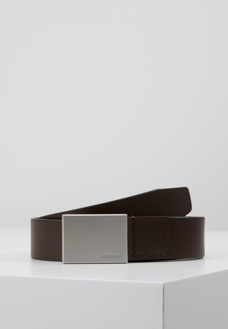 Calvin Klein - FORMAL PLAQUE BELT - Belt - turkish coffe