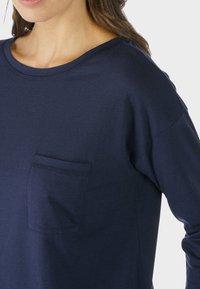 mey - HOMEWEAR SHIRT SERIE NIGHT2DAY - Pyjama top - night blue - 1