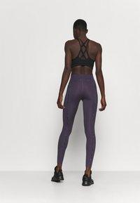 Nike Performance - ONE LUX - Legging - dark raisin/black/clear - 2