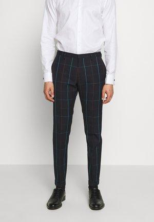 GENTS TROUSER CHECKED - Pantaloni eleganti - dark blue