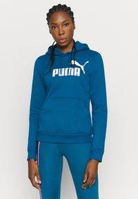 Puma - LOGO HOODY - Jersey con capucha - digi blue - 0