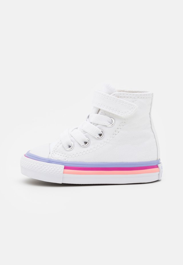 CHUCK TAYLOR ALL STAR STRIPED MIDSOLE UNISEX - Sneakers alte - white/twilight pulse