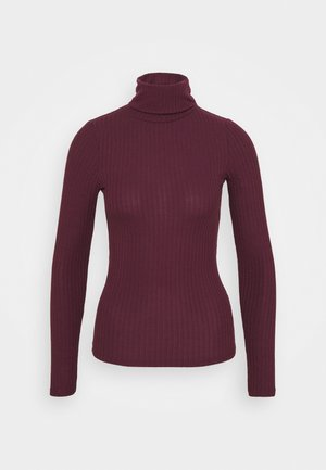 ROLL NECK - Topper langermet - dark burgundy