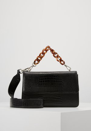 BRIGHT MAYA BAG TURTLE HANDLE - Håndtasker - black