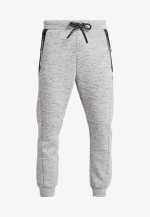 CORE GYM TECH - Tracksuit bottoms - light grey marl