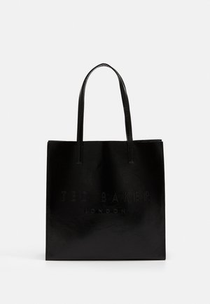 ABZCON CRINKLE PATENT EMBOSSED LARGE ICON - Shopping bag - black