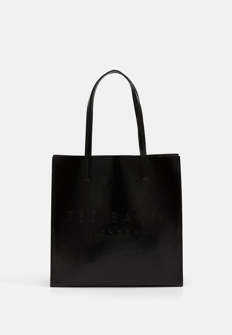 Ted Baker - ABZCON CRINKLE PATENT EMBOSSED LARGE ICON - Shopping bags - black