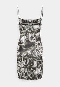 NEW girl ORDER - SKULL MINI DRESS - Cocktail dress / Party dress - black/white - 1