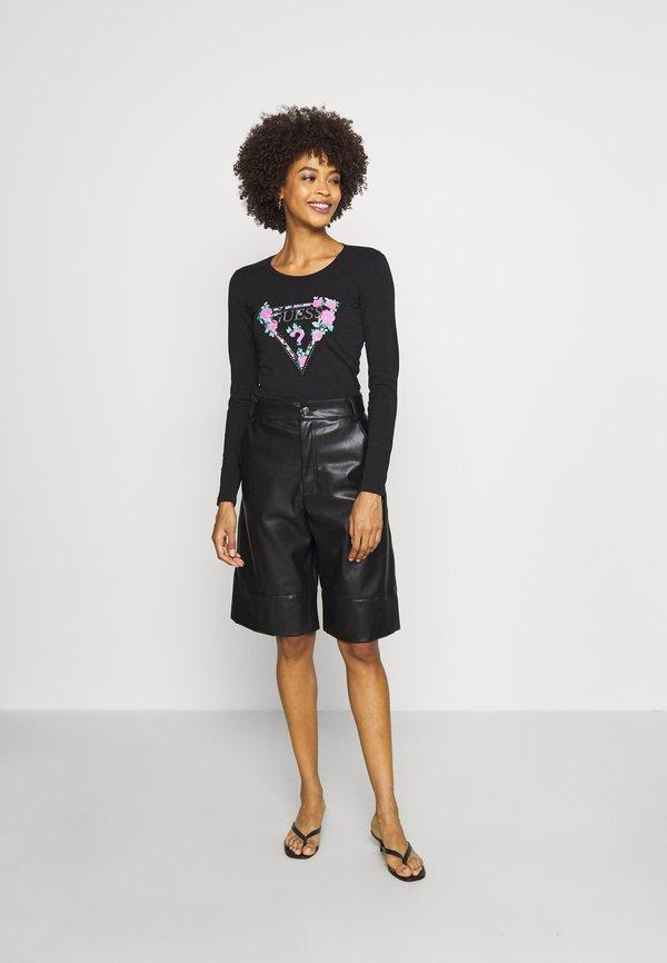 Guess VILMA - Bluzka z długim rękawem - jet black W kwiatki Odzież Damska EACG SG 7