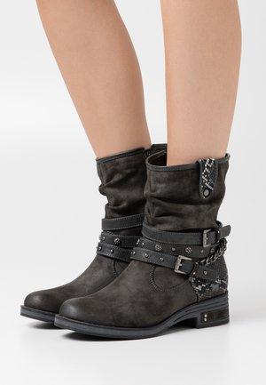 Cowboy/biker ankle boot - dunkelgrau