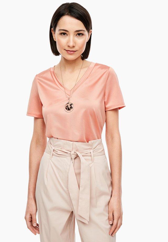 T-shirt basic - dusty peach
