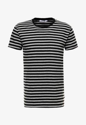 PATRICK - Print T-shirt - black/grey