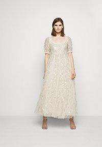 Needle & Thread - SEQUIN GINGHAM ANKLE GOWN - Společenské šaty - champagne/blue - 0