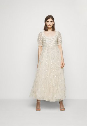 SEQUIN GINGHAM ANKLE GOWN - Ballkjole - champagne/blue