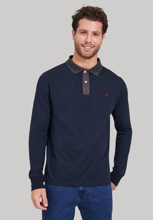 Poloshirt - w blue
