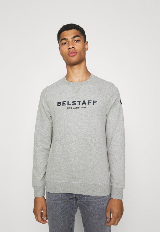 Sweater - grey melange/dark navy