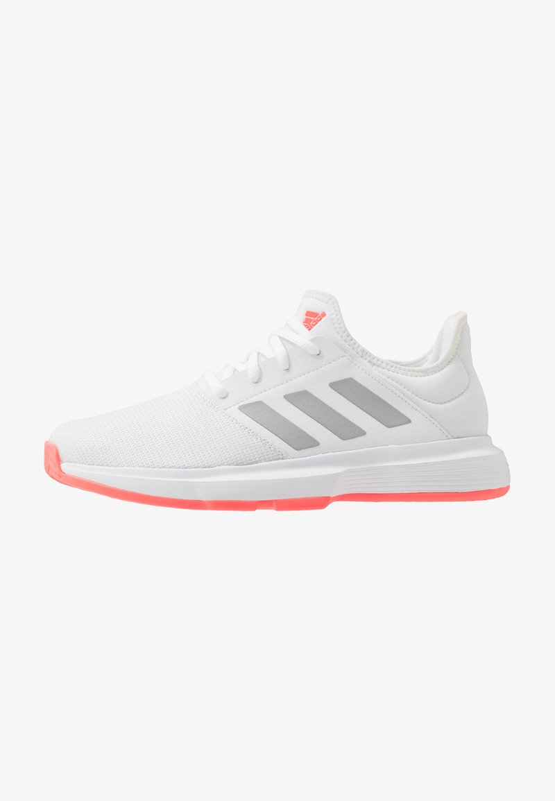 adidas Performance - GAMECOURT - Multicourt tennis shoes - footwear white/silver metallic/signal pink