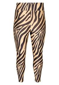 Zizzi - ZEBRA - Leggings - Trousers - beige - 3