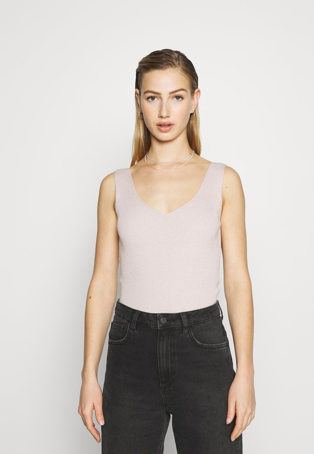 GINA NECK TANK - Top - soft stone