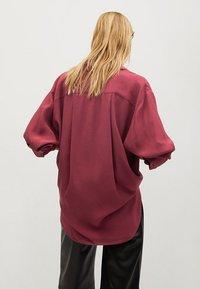 Mango - CEBRA-A - Button-down blouse - maroon - 2