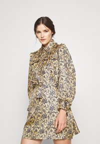 sandro - Shirt dress - doré/bleu - 0
