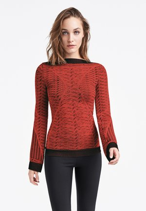 ARROW POISON  - Pullover - red rust/black
