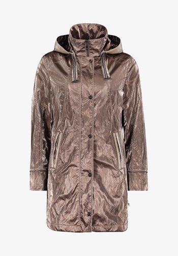 MIT KAPUZE - Short coat - hellbraun