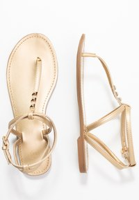 PARFOIS - Sandalias de dedo - gold - 3