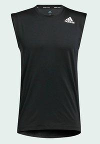 adidas Performance - TURF SL T PRIMEGREEN TECHFIT TRAINING WORKOUT SLEEVELESS T-SHIRT - Sports shirt - black - 7