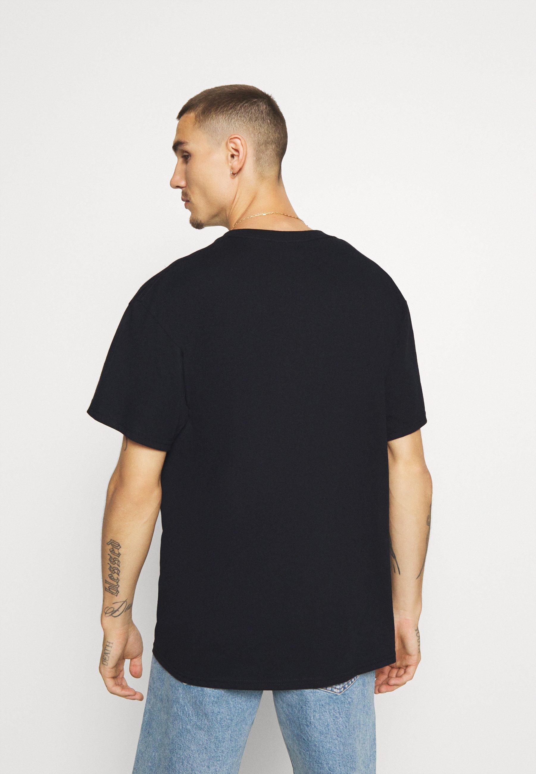 Topman BARCELONA PRINT TEE - Print T-shirt - black mb077