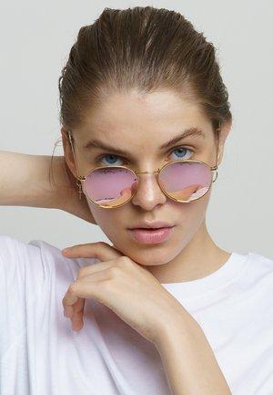Sunglasses - gold rose