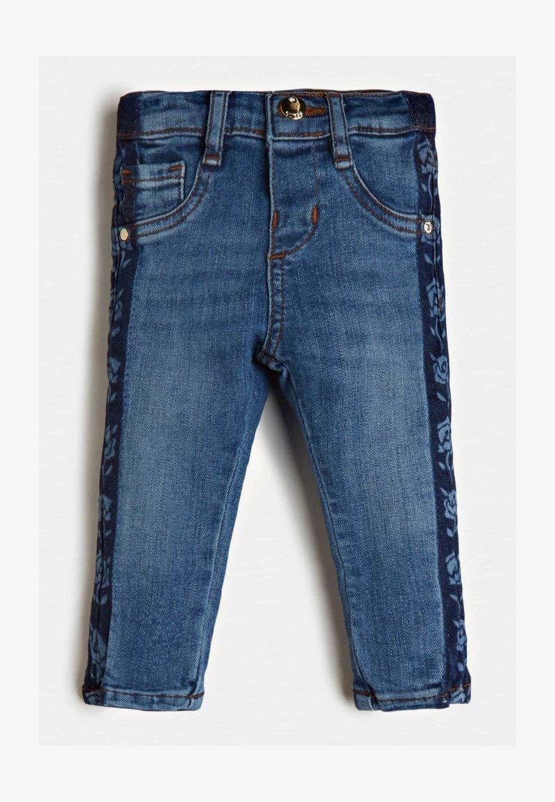 Guess - LOGOSTREIFEN - Jeans Skinny Fit - blau