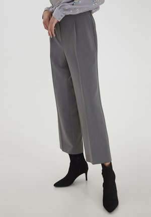 IHGABRIE  - Trousers - grey melange