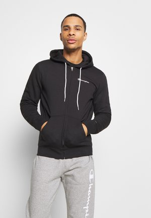 LEGACY HOODED FULL ZIP - Huvtröja med dragkedja - black