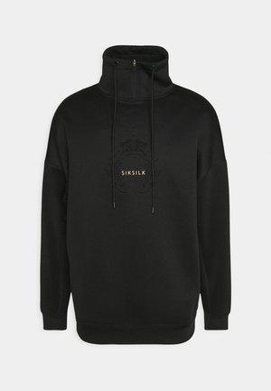 ELEMENT QUARTER ZIP HOODIE - Felpa - black/gold