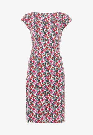 FLORRIE - Jersey dress - naturweiß/ safari-blumenmuster