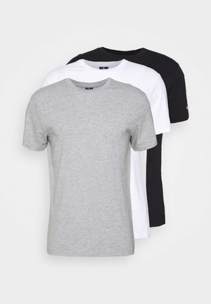 LEGACY CREW NECK 3 PACK - T-paita - black/white/grey