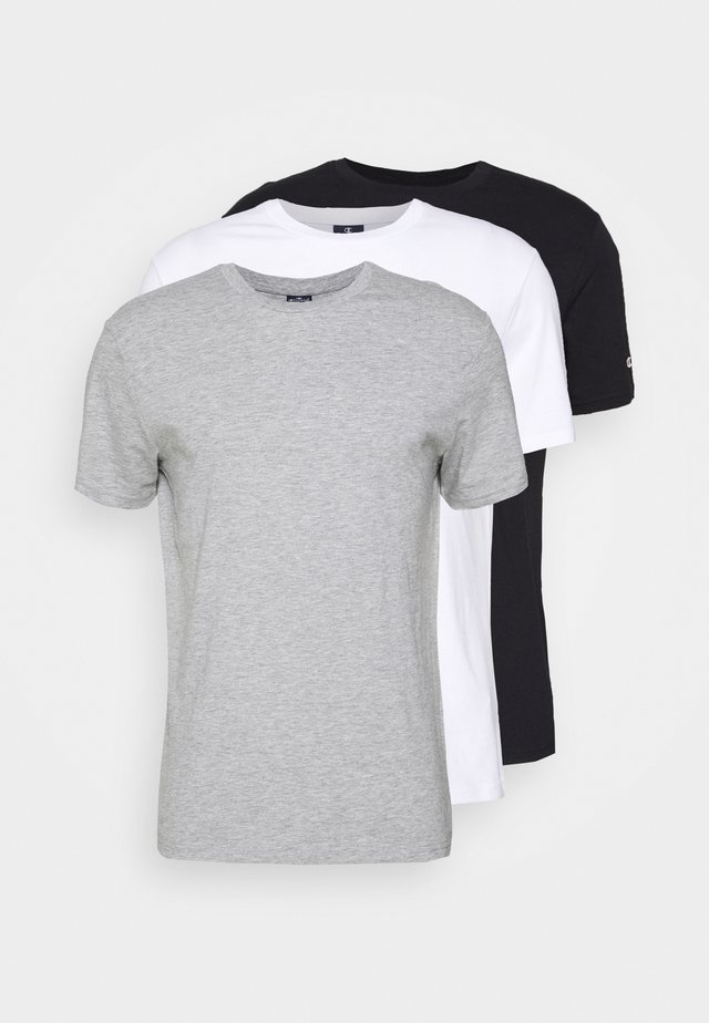 LEGACY CREW NECK 3 PACK - Basic T-shirt - black/white/grey