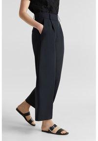Esprit Collection - FASHION CULOTTE - Trousers - black - 5