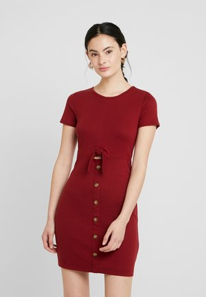 DRESS - Shift dress - red