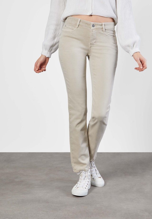 Straight leg jeans - smoothly beige