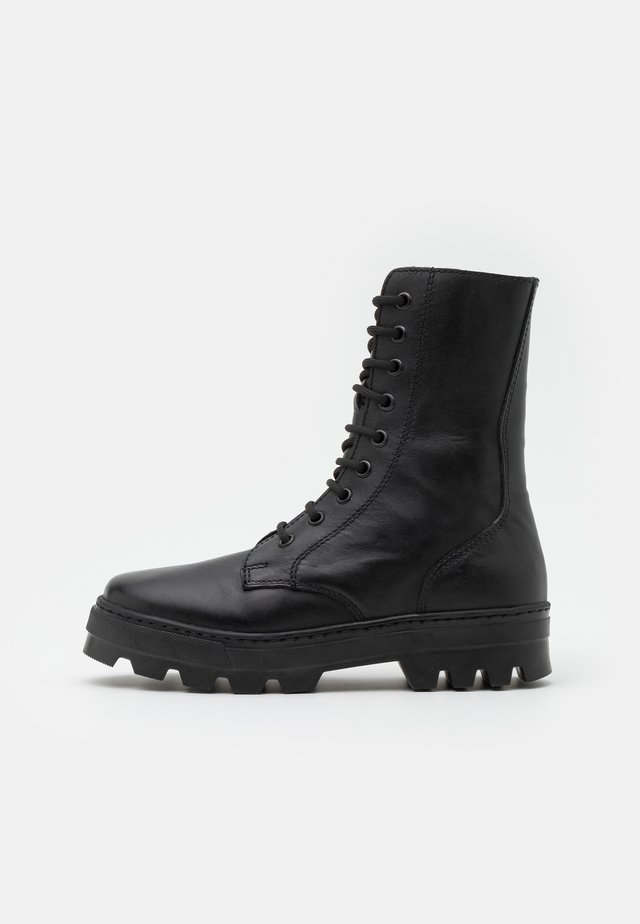 KEFF HIGH UNISEX - Bottines à lacets - black